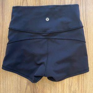 Lululemon shorts, tight and black